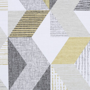 Fresco Tribal Geometric Wallpaper - Ochre / Grey
