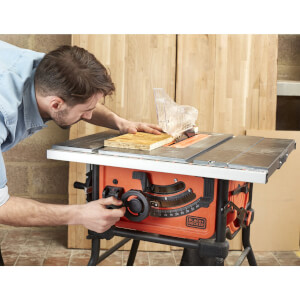 BLACK+DECKER 254MM 1800W Corded Table Saw (BES720-GB)