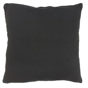 Cotton Diamond Cushion - Grey