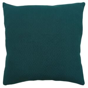 Cotton Diamond Cushion - Teal