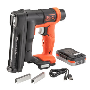 BLACK+DECKER 12V Cordless Tacker with Staples (BDCT12S1-XJ)