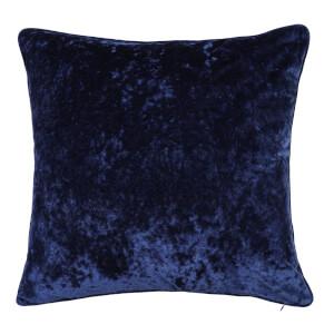Crushed Velvet Cushion - Navy