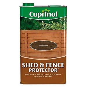 Cuprinol Shed and Fence Protector - Golden Brown - 5L