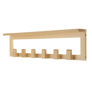6 Beech Hook Shelf Combo