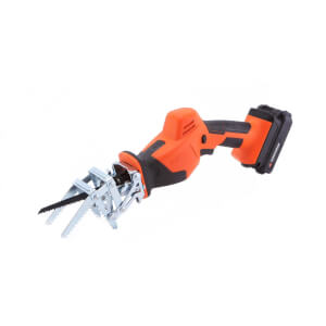 Yard Force 20V Cordless Garden Saw with Multiple Blades, Clamping Jaw, 2.0Ah Lithium-Ion Battery & Charger