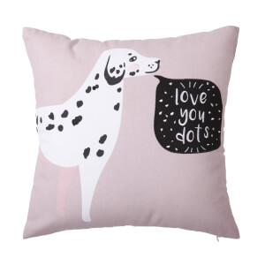 Love You Dots Dalmatian Cushion