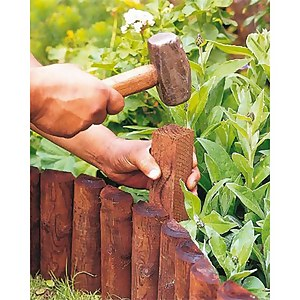 Wooden Border Log Roll Fixing Peg - 45 x 50 x 50mm