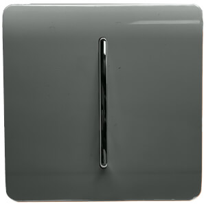 Trendi Switch 1 Gang 2 Way 10Amp Light Switch in Charcoal