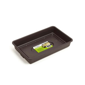 Seed Tray with Holes - 38cm / Black