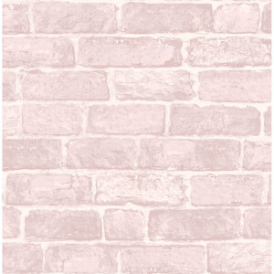 Fresco Pink Brick Wallpaper