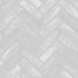 Contour Lustro Silver Wallpaper