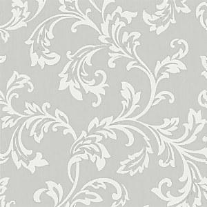 Fine Decor Bamburgh Scroll Grey Wallpaper
