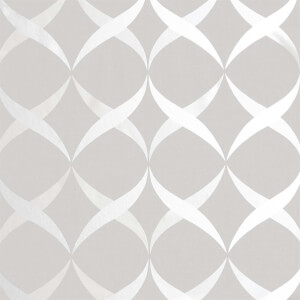 Arthouse Metallic Ogee Silver Wallpaper