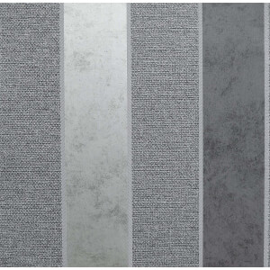 Arthouse Calico Stripe Gunmetal Wallpaper