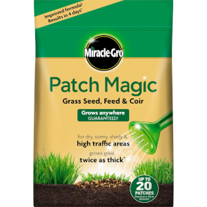 Miracle-Gro Patch Magic Grass Seed, Feed & Coir - 48 Patch Bag