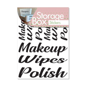 Box Stickers Makeup and Wipes