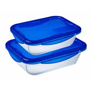 Pyrex Cook & Go 2 Piece Food Storage Set - Blue