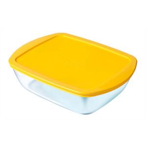Pyrex Cook & Store Rectangular 3 Piece Food Storage Set - Yellow