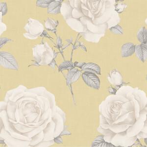Belgravia Decor Rosa Smooth Yellow Wallpaper