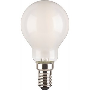 TCP LED Filament Frosted Mini Globe 4W E14 Light Bulb