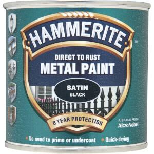 Hammerite Black - Satin Radiator Paint - 250ml