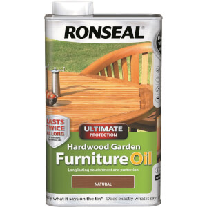 Ronseal Hardwood Garden Furniture Oil - 1L