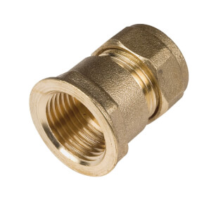 Compression Straight Female Connector - 15mm-0.5in