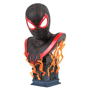 Diamond Select Marvel Legends In 3D Spider-Man Miles Morales 1/2 Scale Bust