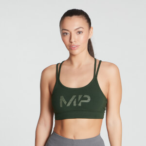 MP Women's Gradient Line Graphic Sports Bra - Dark Green