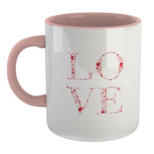 L.O.V.E Mug - White/Pink