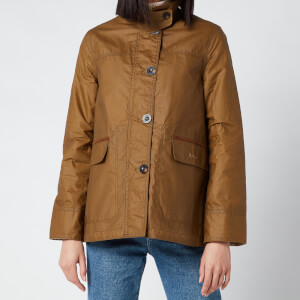 Barbour X Alexa Chung Women's Christie Wax Jacket - Sand/Ancient