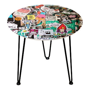 Decorsome Sticker Wall Wooden Side Table