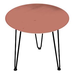 Decorsome Burnt Orange Wooden Side Table