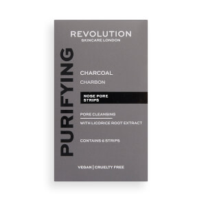Revolution Skincare Pore Cleansing Charcoal Nose Strips 6g