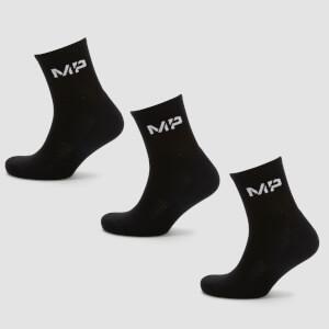 MP Women's Crew Socks - Black (3 Pack)