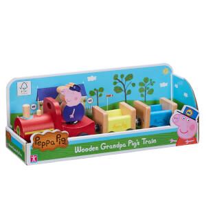 Peppa Pig Grandpa Pig's Wooden Train Toy