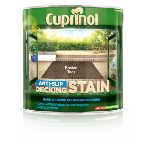 Cuprinol Anti Slip Decking Stain - Boston Teak - 2.5L