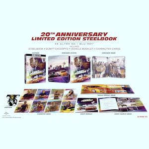 The Fast & The Furious: 4K Ultra HD Zavvi Exklusives 20-jähriges Jubiläum Limited Collector's Edition Steelbook (inkl. Blu-ray)