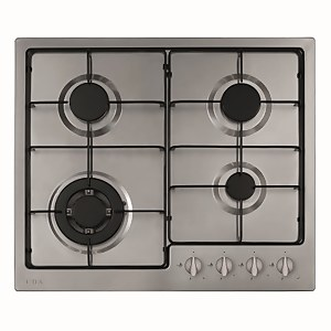 CDA HG6251SS 4 Burner Gas Hob with Front Controls and Wok Burner - 60cm - Stainless Steel