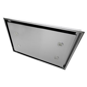 CDA EVX90SS Ceiling Cooker Hood with Remote Control - 90cm - Stainless Steel