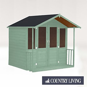 Country Living Flintham 7 x 7 Traditional Summerhouse Painted + Installation - Aurora Green