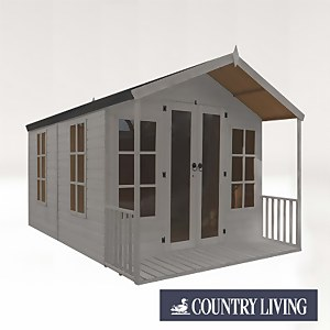 Country Living Tuxford 12 x 8 Premium Traditional Summerhouse Painted + Installation - Thorpe Towers