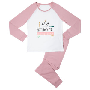Birthday Girl Lockdown Edition Women's Pyjama Set - White/Pink