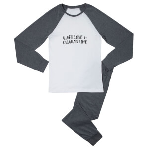 Caffeine & Quarantine Men's Pyjama Set - White/Grey