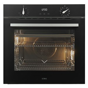 CDA SL300BL Built-in Single Electric Oven- 12 Function - Black