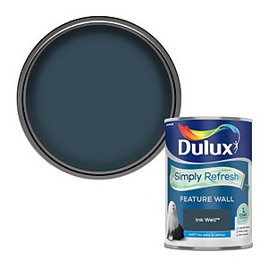 Dulux Simply Refresh Feature Wall One Coat Matt Emulsion Paint - Ink Well - 1.25L
