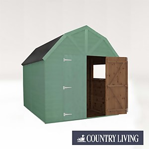 Country Living Appleby 10 x 8 Premium Pressure Treated Shiplap T&G Dutch Barn Painted + Installation - Aurora Green
