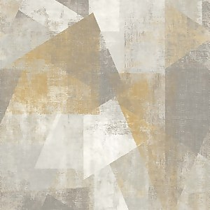 GrandecoLife Perspectives Vincent Yellow Wallpaper