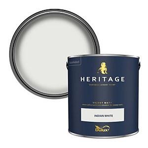 Dulux Heritage Matt Emulsion Paint - Indian White - 2.5L