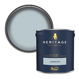 Dulux Heritage Matt Emulsion Paint - Country Sky - 2.5L